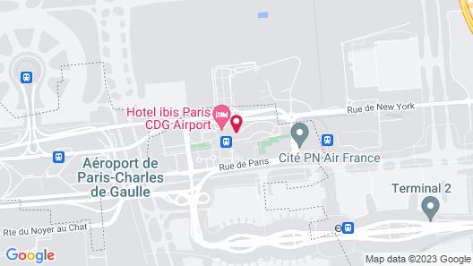 Ibis Styles Paris Charles de Gaulle Airport Map