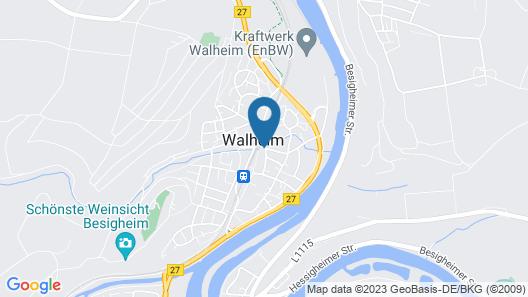 Monteurzimmer Walheim am Bahnhof Map