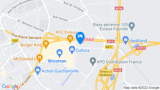 B&B Hotel Evreux Map