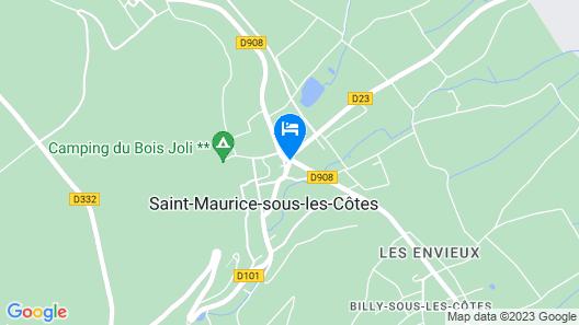 Hotel des Côtes de Meuse Map