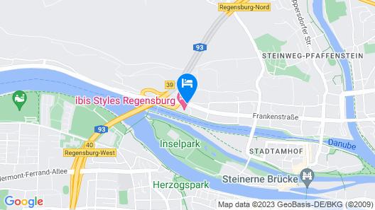 Ibis Styles Regensburg Hotel Map