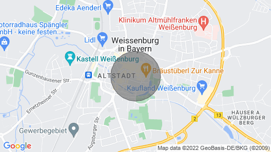 Living in a historical atmosphere in the middle of Weissenburg Map