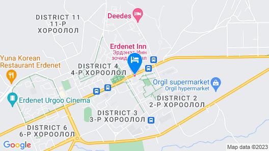 Erdenet Inn Map