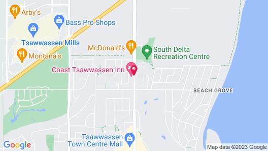 Coast Tsawwassen Inn Map