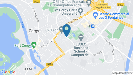 Hôtel Novotel Cergy Pontoise Map