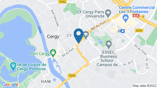 Olivarius Cergy Apart'Hotels Map