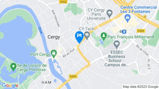 Olivarius Cergy Apart'Hotels Map