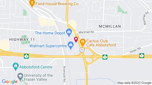 Super 8 by Wyndham Abbotsford BC Map