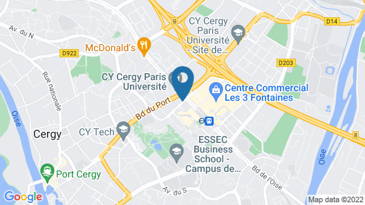 hotelF1 Cergy  Map