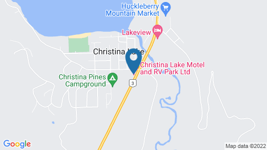 Christina Lake Motel and RV Park Ltd. Map