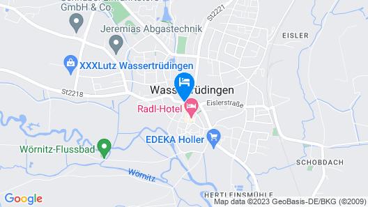Seebauer Hotel Wassertrüdingen Map