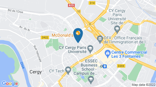 Mercure Cergy Pontoise Centre Map
