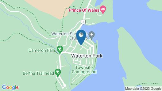 Waterton Glacier Suites Map