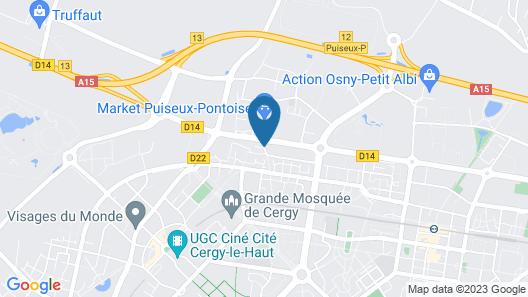 Hotel Première Classe Cergy Saint Christophe Map