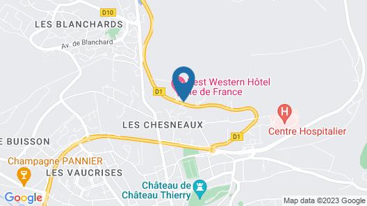 Best Western Hotel Ile De France Map