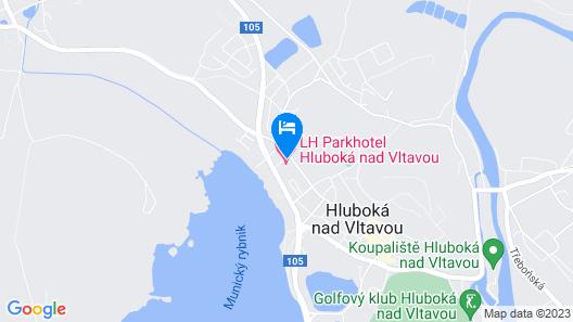 Parkhotel Hluboka Nad Vltavou Map