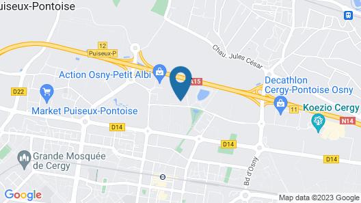 Campanile Cergy Saint Christophe Map