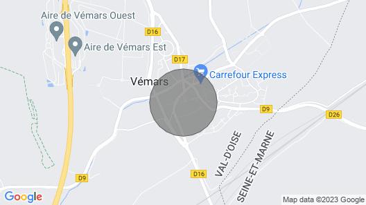 LOC CITY PARIS -Studio near CDG / Bourget / Villepinte / Asterix Map