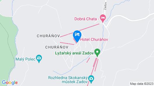 HOTEL CHURÁŇOV Map