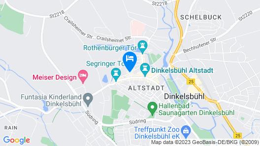 Romantica Hotel Blauer Hecht Map