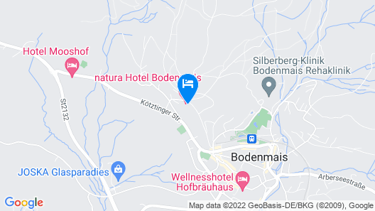 Natura Hotel Bodenmais Map