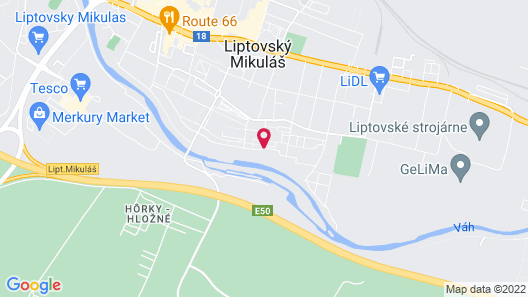 Studio near the city center of Liptov Map