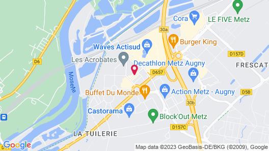 Premiere Classe Metz Sud - Jouy-Aux-Arches Map