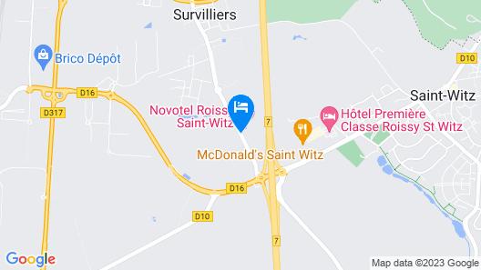 Novotel Roissy Saint-Witz Map