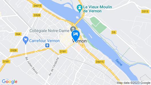 Hôtel Normandy Map