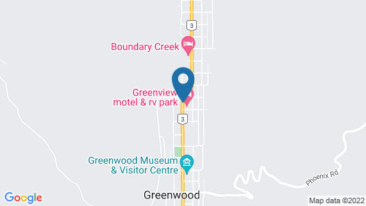 Greenview Motel and RV Park Map