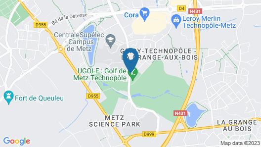 Best Western Plus Hotel Metz Technopole Map