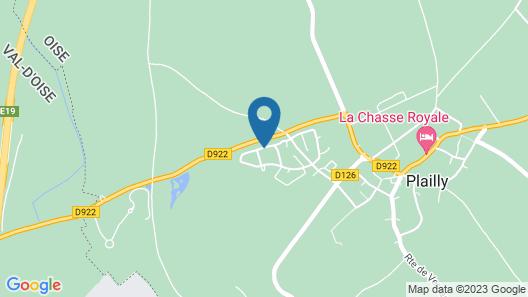 Chambre et Verdure - Plailly Map