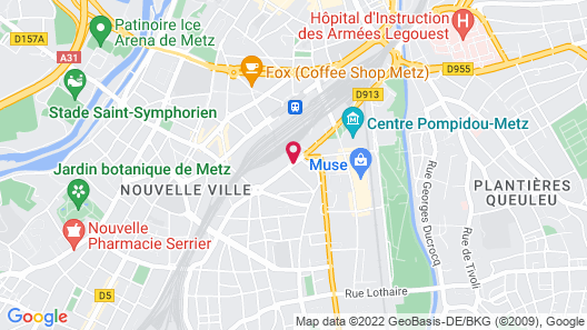 Campanile Metz Centre - Gare Map
