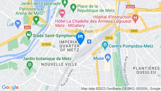The Originals City, Hôtel Moderne, Metz (Inter-Hotel) Map