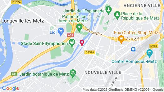 L'aparté Péniche Orphée Map
