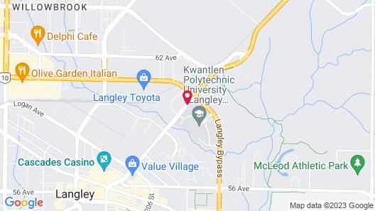 Best Western Plus Langley Inn Map