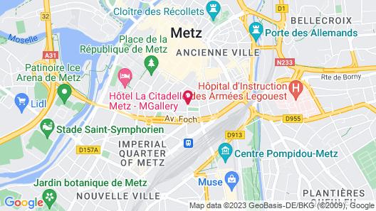 Mercure Metz Centre Map