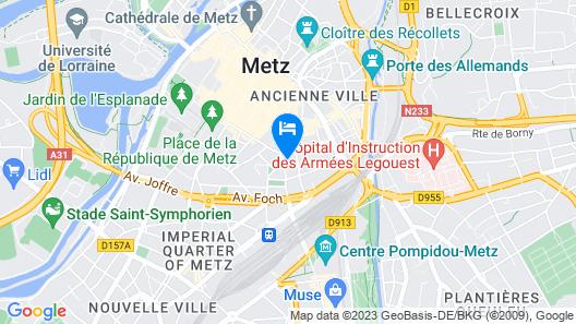 Hotel Kyriad Metz Centre Map