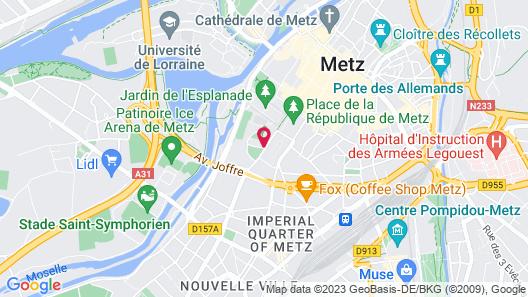 Hotel La Citadelle Metz-MGallery Map