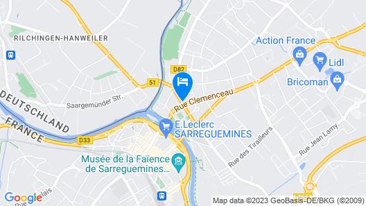 Hôtel Union Map