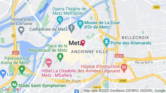 Novotel Metz Centre Map