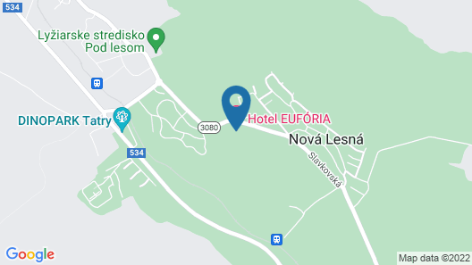 Hotel Eufória Map