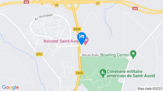 Hôtel Novotel Saint Avold Map