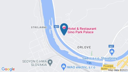 Hotel & Restaurant Gino Park Palace Map