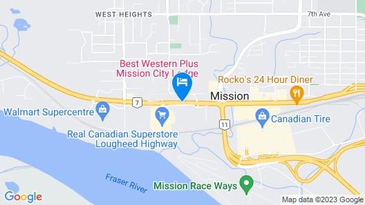 Best Western Plus Mission City Lodge Map