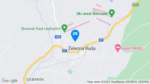 Apartmány U Ády Map
