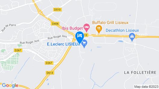 Premiere Classe Lisieux Map