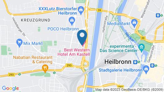Best Western Hotel Am Kastell Map