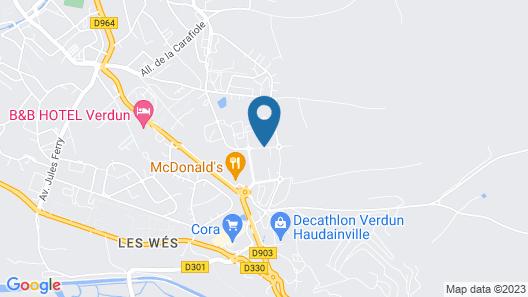 ibis budget Verdun Map