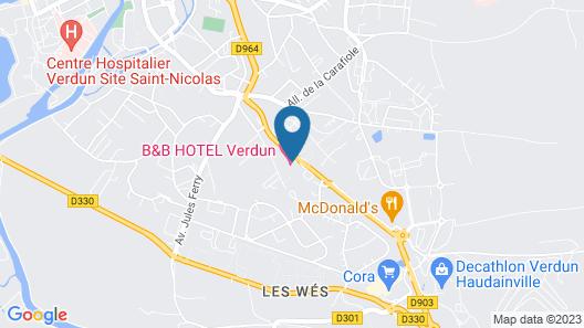 B&B Hotel Verdun Map